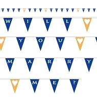 Will You Marry Me Bunting - Blue & Orange